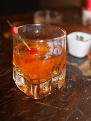 A delicious Whiskey Old Fashioned (Not beer)